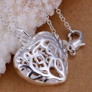 Jewelry - 925 Silver Charms Heart Lovely Cute Beautiful Neck